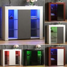 Azura LED Sideboard 1 Door Storage Cabinet Cupboard Display Stand High Gloss