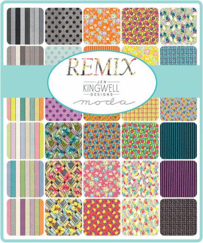 "Moda Remix 5/"" Charm Pack Fabric Squares 18160PP Jen Kingwell SQ79"