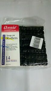 Image Is Loading Annie Black Small Snap On Rollers 14 Ct