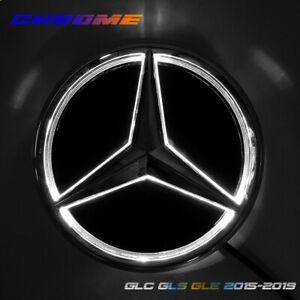 Illuminated Car Led Grill Logo Emblem Light For Mercedes Benz GLC GLE GLS 20.5CM