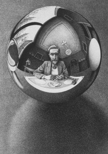 Escher # 28 cm 35x50 Poster Stampa Grafica Printing Digital Fine Art papiarte