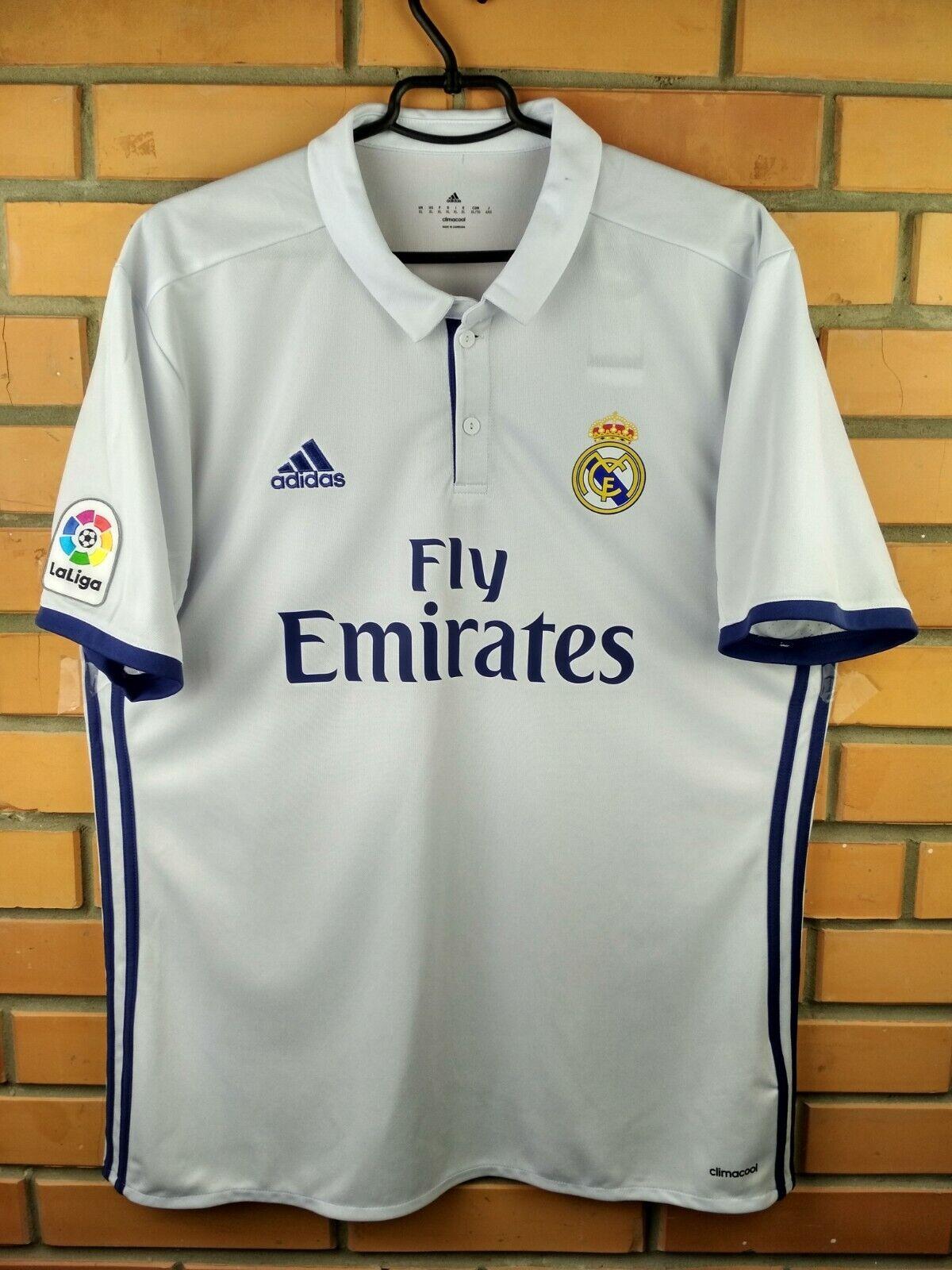 Real Madrid jersey XL 2016 2017 home shirt S94992 soccer football Adidas