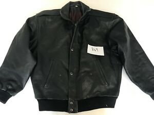 TLC-Vintage-Motorcycle-Jacket-Real-Leather-Black-S-Armpit-22-034-Lgth-27-034-849