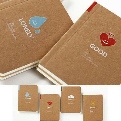 Cute Blank Mini Kraft Paper Pocket Diary Notebook Journal Sketchbook Notepad