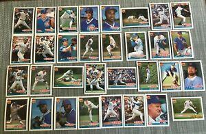1991-CHICAGO-CUBS-Topps-COMPLETE-Baseball-Team-Set-32-Cards-SANDBERGx3-MADDUX