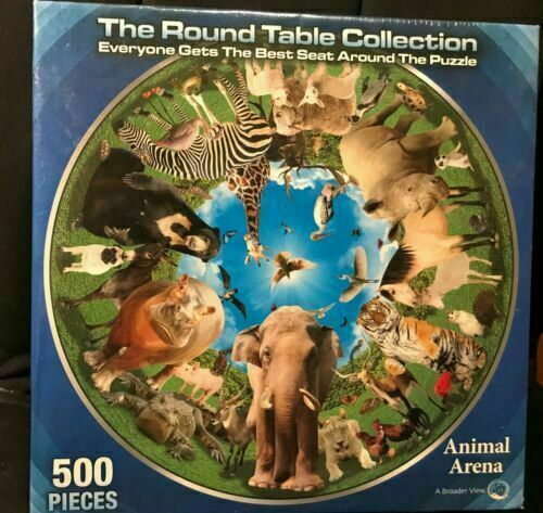 Animal Arena Jigsaw Puzzle, Puzzle Round Table