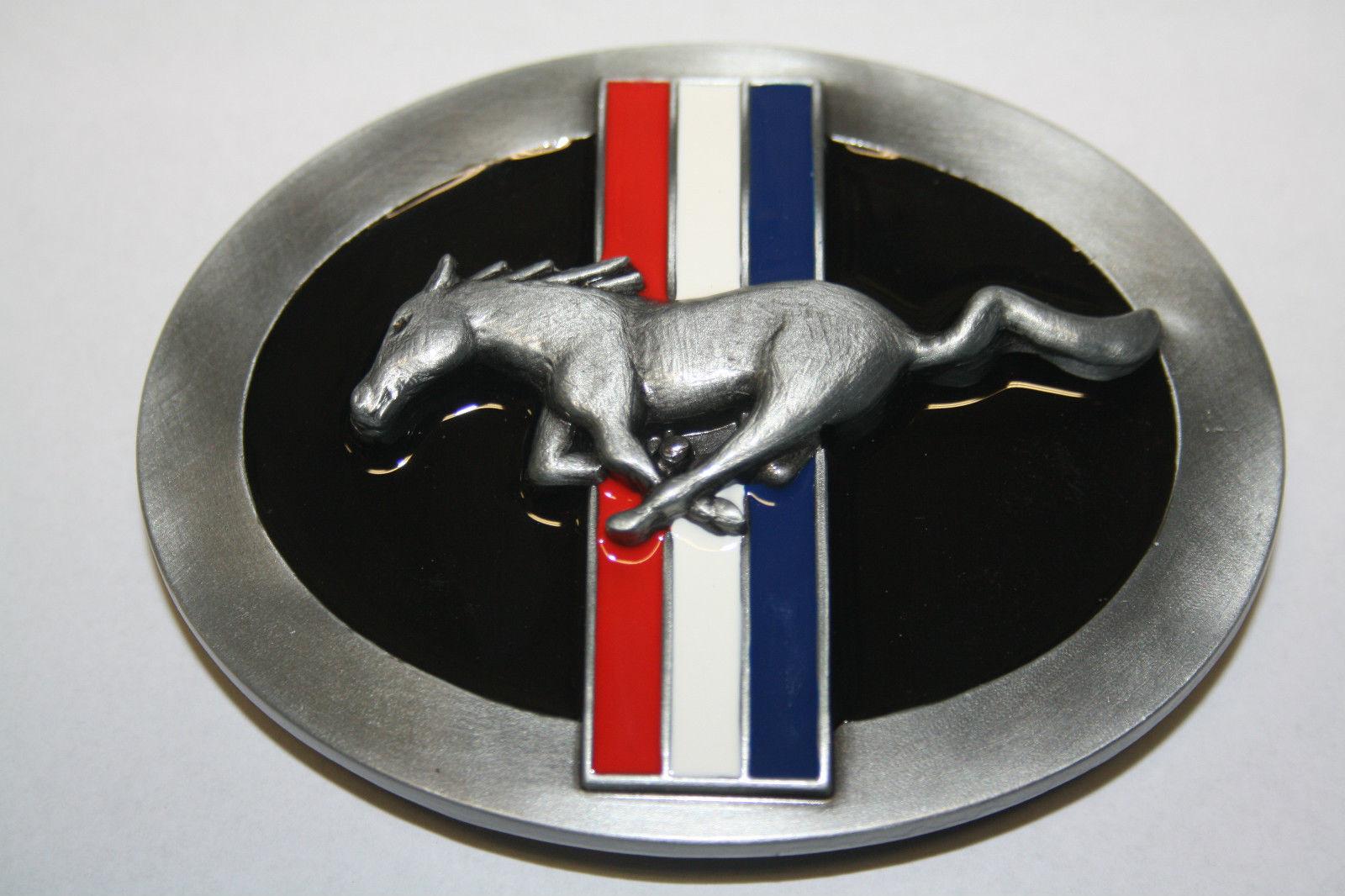 Licensed FORD MUSTANG Belt Buckle Pony Logo Emblem Lizenz Gürtelschnalle US Car