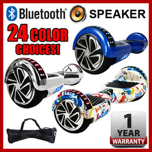6-5-034-Bluetooth-Speaker-LED-2-Wheel-Self-Balancing-Scooter-UL2272-Chrome-Graffiti