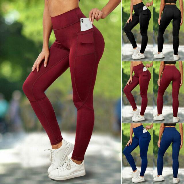 Houmous Womens Workout Ankle Leggings Tummy Control Full-Length Yoga Pants
