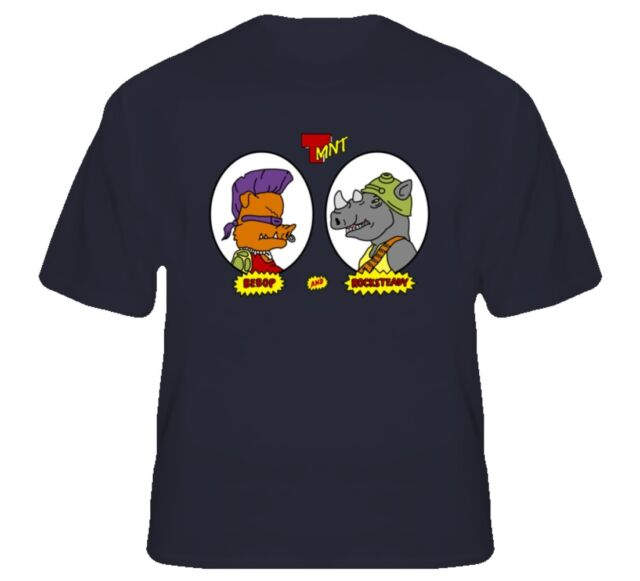 Teenage Mutant Ninja Turtles Bebop Rocksteady Cartoon T Shirt
