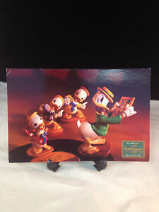 """WDCC Disney Post Card 6"""" x 9"""" Donald Duck and Nephews"""
