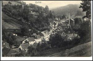 Ruhla-Thueringen-alte-Postkarte-1908-gelaufen-Gesamtansicht-Haeuser-Wald