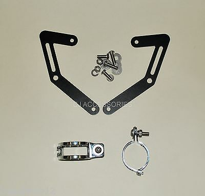 MT-03 Motorcycle Fork Mounted Headlight Brackets 47-50mm Clamps Streetfighter