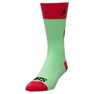 e006161c9fa0 Nike Jordan Brooklyn MARS Crew Socks Green Red 658504-395 Sz S M L ...