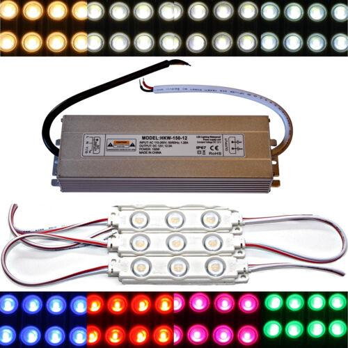 12V 5730 Chip warmweiß kaltweiß Injektion 100x LED Module 150 Watt Netzteil