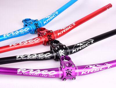 KRSEC 760mm Handlebar riser bar MTB DH AM XC Bike Short 0° Stem 31.8*45mm set