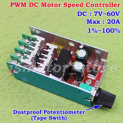 DC 12V-48V 30A 500W PWM Regulator DC Motor Speed Control Controller Driver