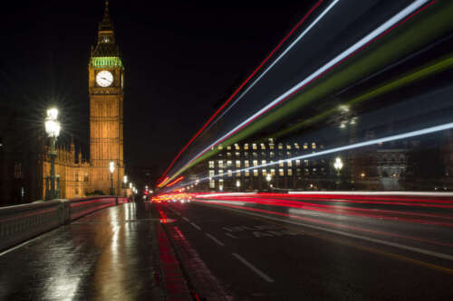 BIG BEN LONDON AT NIGHT CITYSCAPE LANDSCAPE POSTER 24x36 HI RES 9MIL PAPER