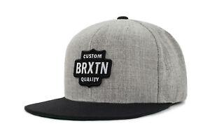 BRIXTON-GARTH-SNAPBACK-CAP-NEU-HEATHER-GREY-BLACK-BRIXTON-SUPPLY