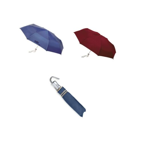 100/% automatic Auto Open /& Close Compact Umbrella Burgandy// Blue