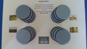 Set 16 x 50mm Teflon Sofa Table SLIDERS GLIDER heavy FURNITURE slippy pads