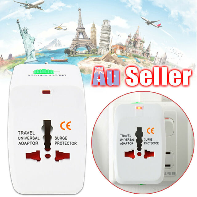 All in One Universal Adapter International Travel RT AU/UK/US/EU Power Charger