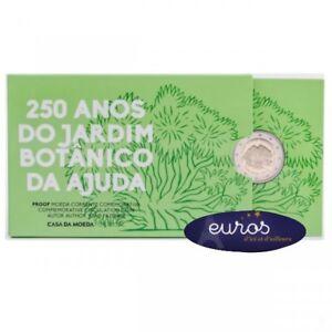 Piece-2-euros-commemorative-PORTUGAL-2018-Jardin-Botanique-Belle-Epreuve