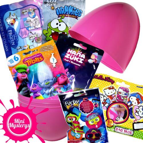 Furby Hello Kitty Blind Bags Trolls LARGE SURPRISE EGG inc 6 Toys Hanazuki