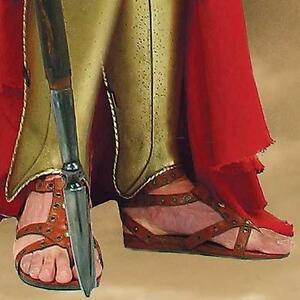300 Spartans Greek Hoplite Brown Leather Mens Sandals