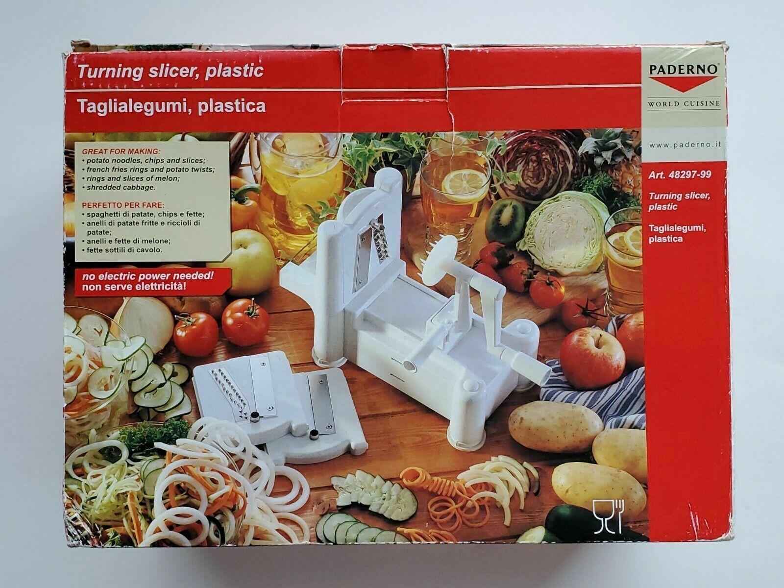 Top PADERNO WORLD CUISINE VEGETABLE AND FRUIT SPIRALIZER, Turning Slicer, pasta