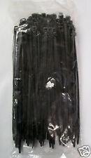 "7"" Releasable Nylon Cable Zip Tie UV Black 50 lb 500 Count"