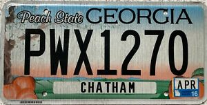 GENUINE-American-Georgia-Chatham-Co-USA-License-Licence-Number-Plate-PWX-1270