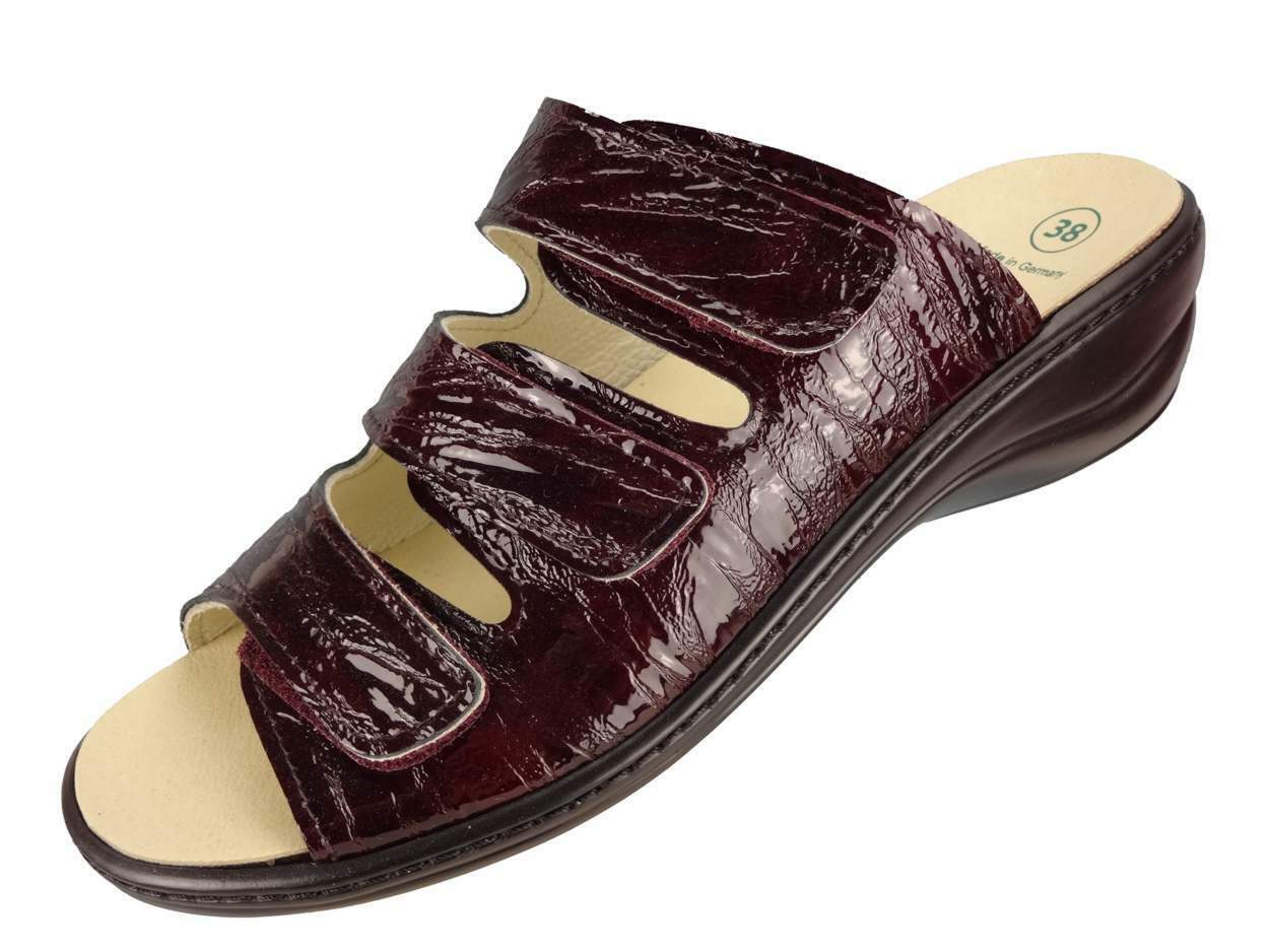 Algemare Damen Leder Pantolette Vino Rigato Algenkork Wechselfußbett 1239_5252  | Vielfalt