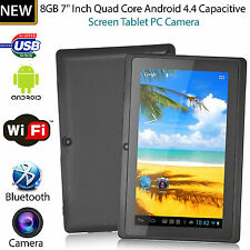 7 Pollici ANDROID 4.4 QUAD CORE TABLET PC 8gb Wi-Fi Bluetooth HD TOUCH SCREEN NUOVO