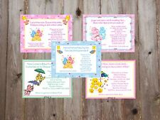 Care Bears Adorable Baby Shower Invitations