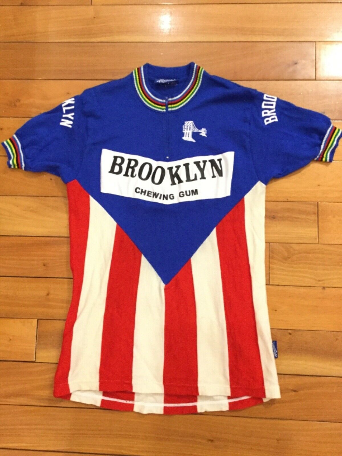 Vintage Team Brooklyn Gios Torino Wool Jersey Sz3 Campagnolo by Alessandro
