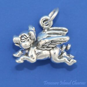 FLYING-PIG-WITH-WINGS-WHEN-PIGS-FLY-Solid-3D-925-Sterling-Silver-Charm