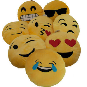 emoticon kissen emoji kissen smiley kissen whats app kissen gelb smileys ebay. Black Bedroom Furniture Sets. Home Design Ideas
