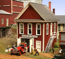 American Model Builders LaserKit Hillveiw Fire House  N Scale Kit #647 BTTG