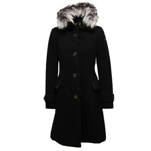 los angeles a4f00 caf79 Details about 8692Y cappotto SLIM SLIM FIT donna RRD CASENTINO wool black  parka woman
