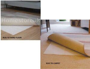 Rug Safe Mat For Carpet Or To Wood Hard Floor Gripper Non Slip Slide Anti Skid