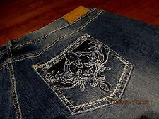 Amethyst Jeans SHORTS Womens Plus size 16 metallic stitching DESIGNED EMBELLISH