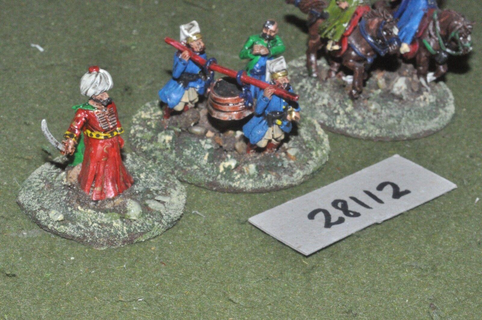 25mm renaissance   turkish - generals & escort 6 figures - command (28112)