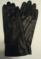 Ladies Warm Thinsulate Genuine Leather Gloves, M, Black