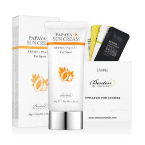 Details about [Benton Cosmetic] Papaya-S Sun Cream SPF50+ / PA++++ 50g +  Free Sample