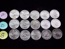 **2012**P-D-S NATIONAL PARKS QUARTERS (15 COINS) GEM UNC.