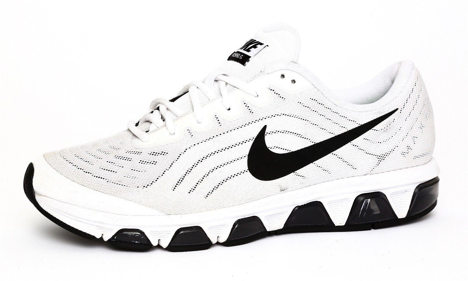 Nike Tailwind 6 Men's White Lace Up Waffle Skin Sneaker Sz 11.5 1135