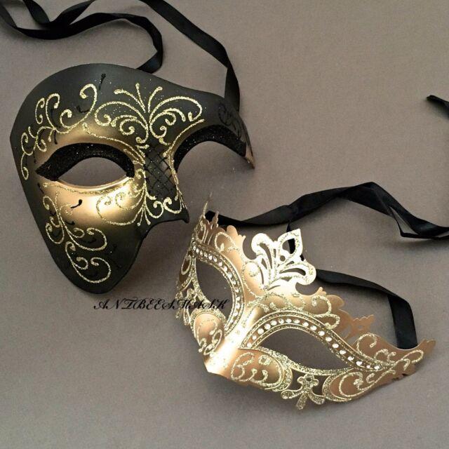 Phantom Vintage Gold Laser Cut Venetian Metal Masquerade Mask Prom Costume Women