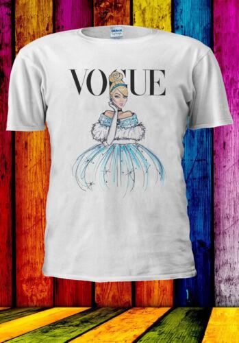 Disney Princess Cinderella Vogue T-shirt Vest Tank Top Men Women Unisex 512