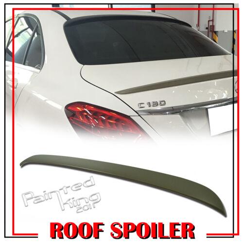 Unpainted Mercedes BENZ W205 C-class OE-Type Rear Roof Lip Spoiler 4DR Sedan